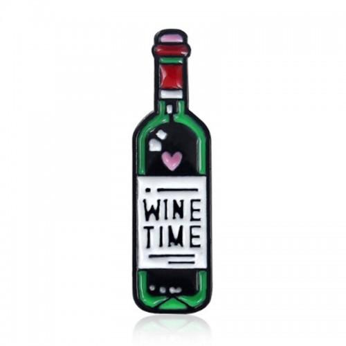 brosa sticla si pahar de vin