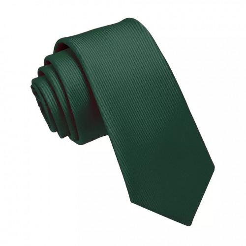 Cravată din mătase de culoare verde