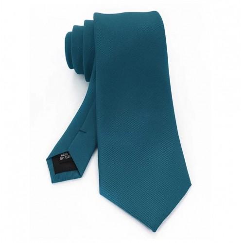 cravata din matase de culoare turcoaz