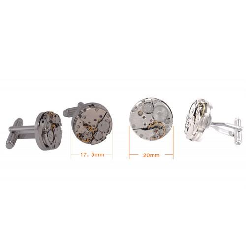 Butoni Skeleton cu mecanism de ceas