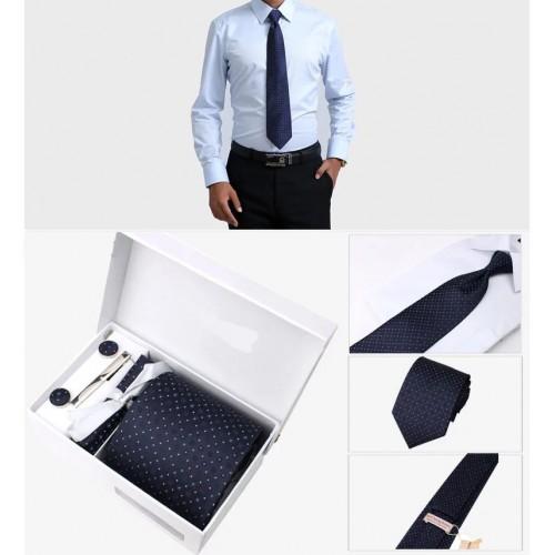 Set Cravata cu Batista, Butoni si Ac de cravata