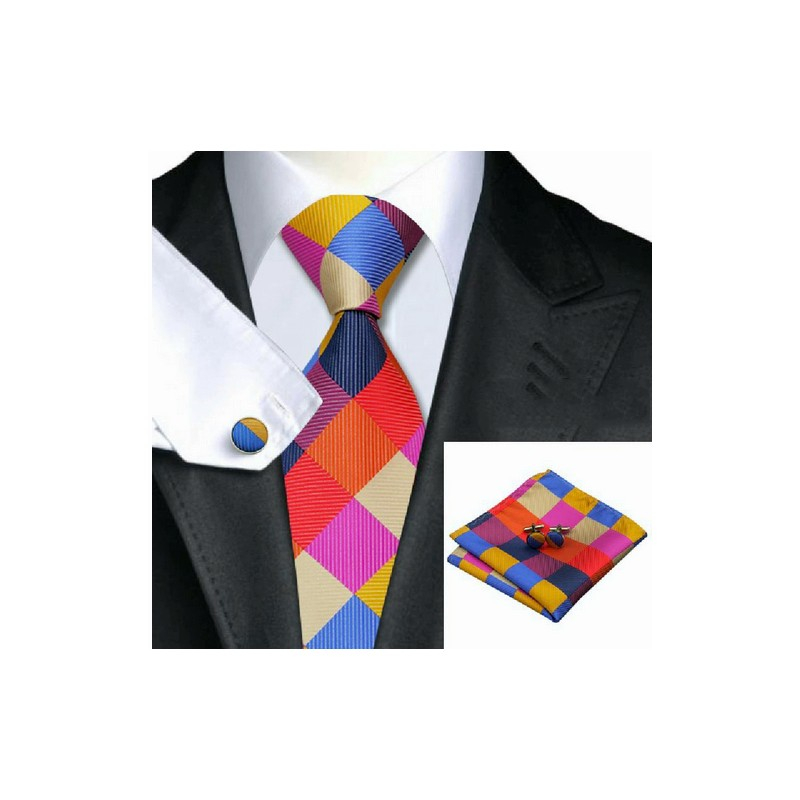 Cravata romburi curcubeu
