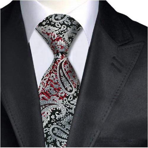 Cravata negru cu rosu