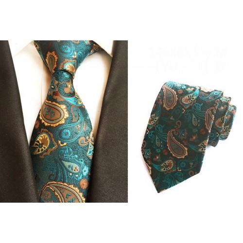Cravata Paisley Blue din matase naturala