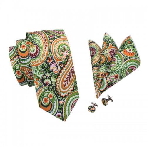 Set Cravata, butoni si batista din matase Pri