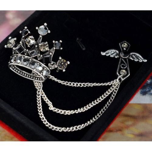Brosa coroana pentru rever sacou sau guler camasa